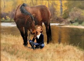 The Horse and His Girl oil on linen by Christina Cannon