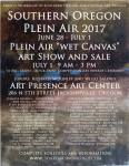 Artists Workshop July 1, 2017 Plein Air Event Show and Sale at ARt Presence ARt Center, Jacksonville, Oregon