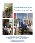 Life Celebration Memorial Service for Harriet Rex Smith, Ashland, Oregon, August 27, 2017