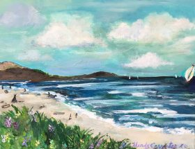 Carmel Beach by Mindy Carpenter