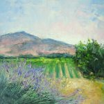 Paschal's Winery plein air painting by Silvia Trujillo