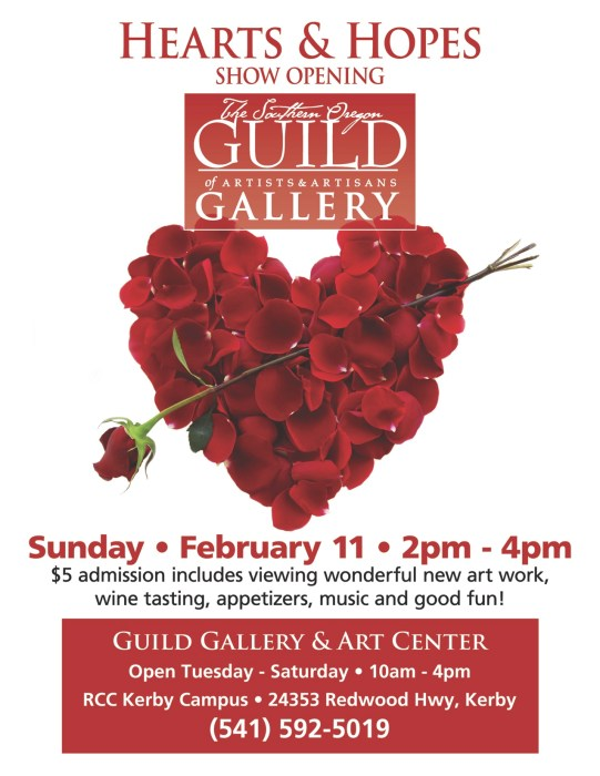 Hearts and Hopes Guild Show Flyer