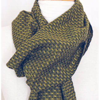 Hand-woven scarf by Angelique Stewart