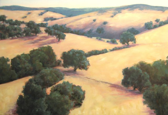 Sylvia Trujillo, Wine Country Wandering, oil painting
