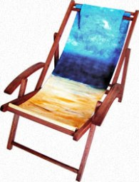 Beach Chair - Fabric Painting Mini Workshop at Central Art Supply