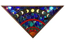 Darla Baack, Sun and Moon, Stained glass