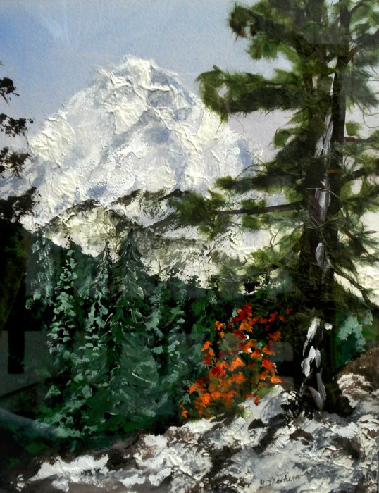 Mont Blanc by Ginny Matheson.  -Submitted by the artist