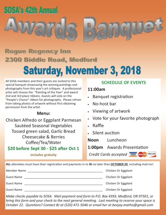 2018 SOSA Awards Banquet