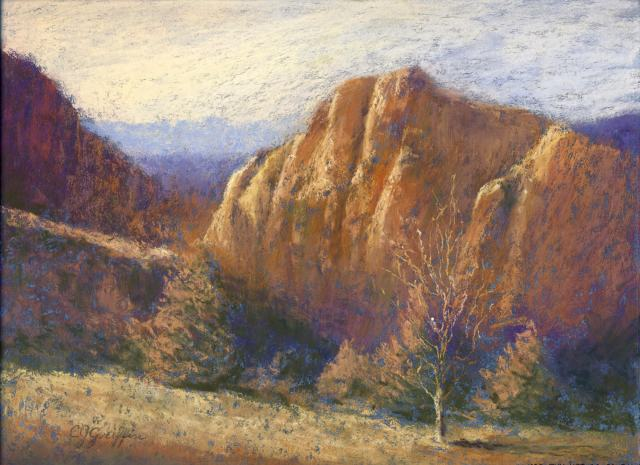 "Carla Griffin, ""Smith Rock"", painting"