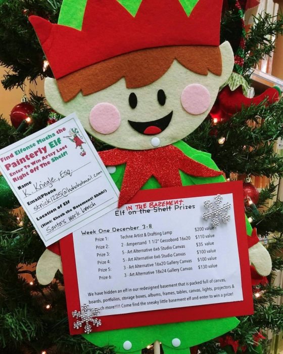 Find The Elf In The Basement & Enter To WIN Prizes!!!