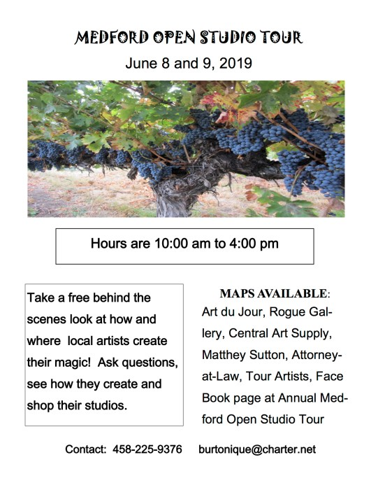 Medford Open Studio Tour June 8-9 2019