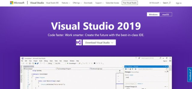 Visual Studio Homepage