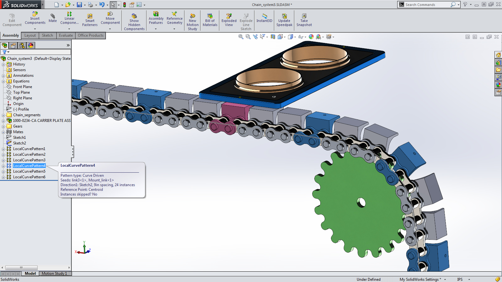 sketch driven assembly solidworks