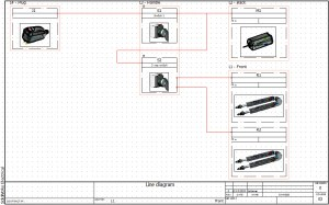 SolidWorks Electrical 2D: Line Diagram Drawings & Locations