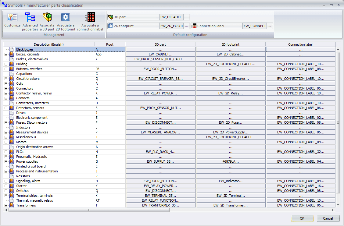hight resolution of classifications libraries in solidworks electrical 1