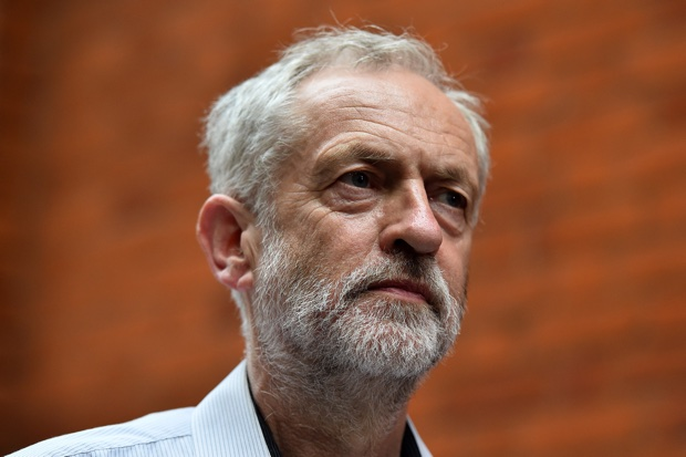 Jeremy Corbyn is pictured as he arrives to address a speech in west London, on August 17, 2015.