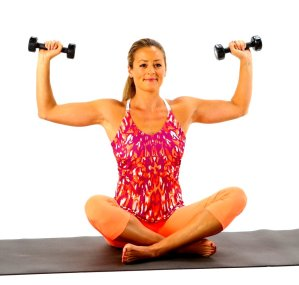 For toned muscles- Lighter weights for higher reps works well.