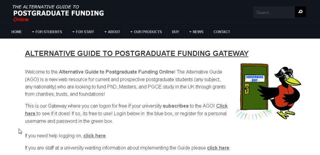 Alternative Guide to Postgraduate Funding