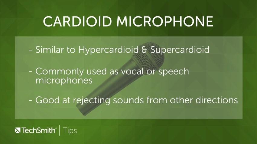 Cardioid mic