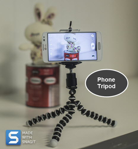 Phone tripod