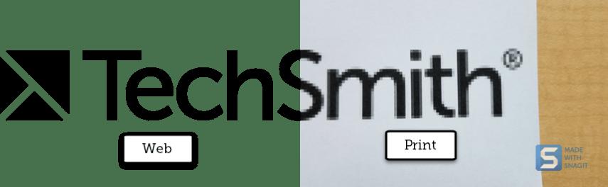 web vs print logo