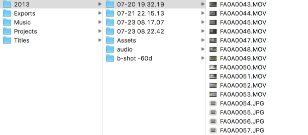 Gather footage for video editing on the timeline