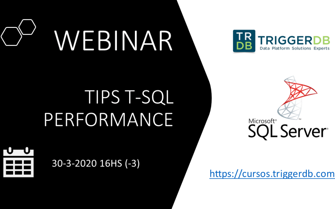 Webinar gratuito T-SQL Tips performance