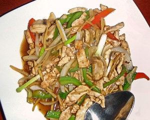 Gai (chicken) Pad-King