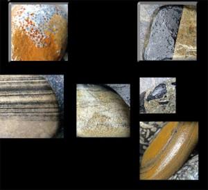orangy rock collage