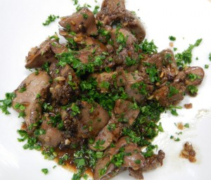 chicken livers in sherry