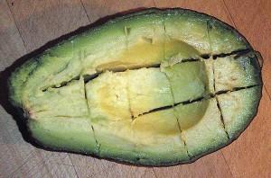 avocado cut into squares