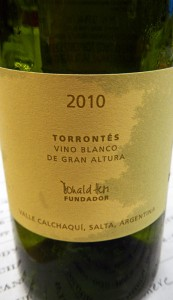 The non-sparkling 'Colmes' Torrontés comes from Salta in Argentina