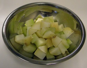 Potatoes and Chayote Squash