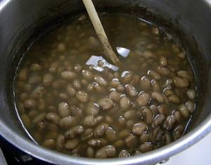 las frijoles para la sopa Tarasca