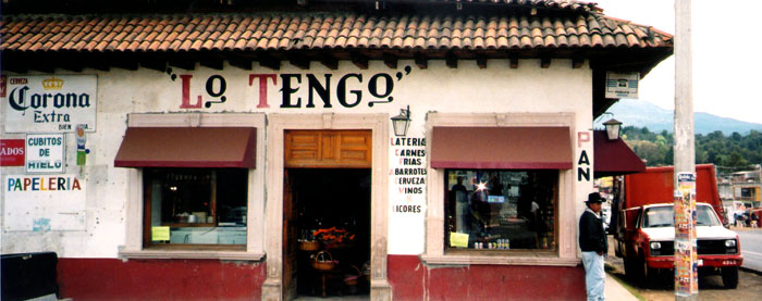 'Lo Tengo' - 'I have it', a store with EVERYTHING in Patzcuaro