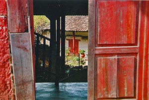 door way into a secret jardin, Patzcuaro