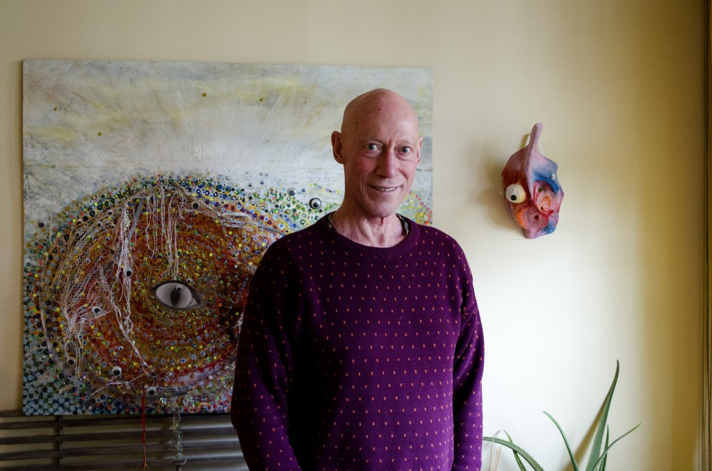 Ian Wallace at his downtown Vancouver apartment. Photo by Carlos Tello