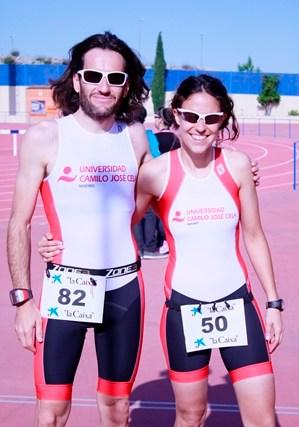 Beatriz Lara López y Juan José Salinero, profesores de la titulación de Ciencias de la Actividad Física y del Deporte