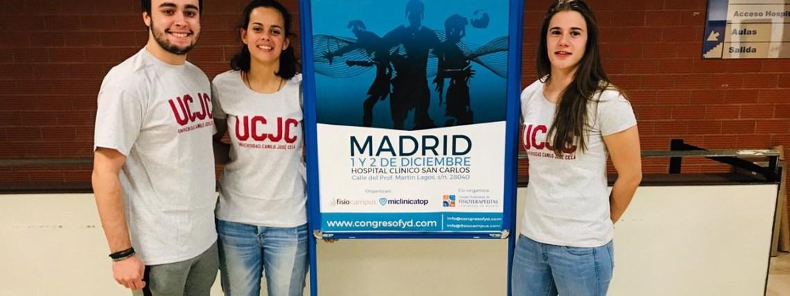 Estudiantes y profesores de Fisioterapia de la UCJC en el Congreso Internacional de Fisioterapia y Deporte de Madrid