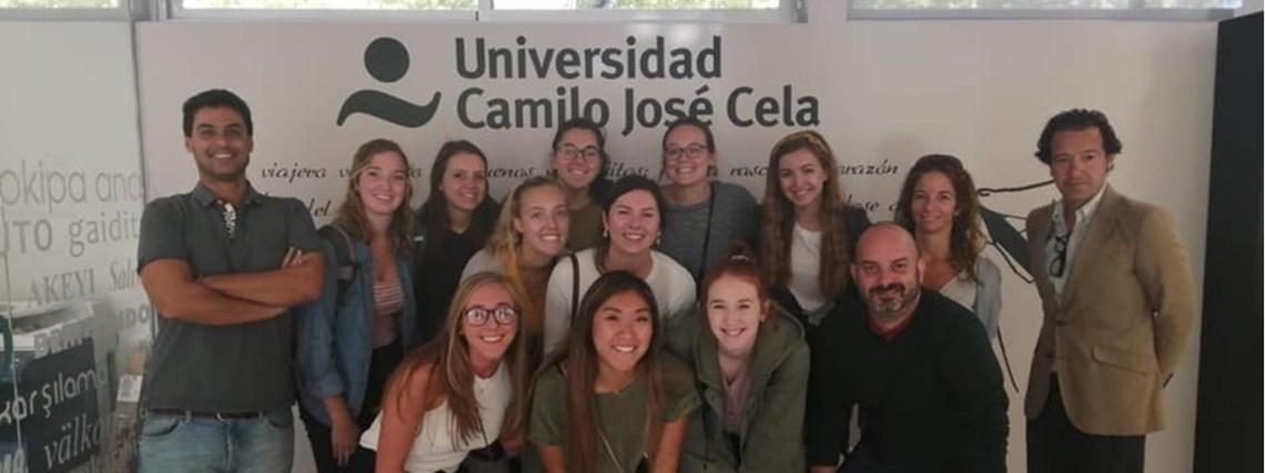 Visita de los estudiantes de Fisioterapia de la Saint Louise University a la UCJC