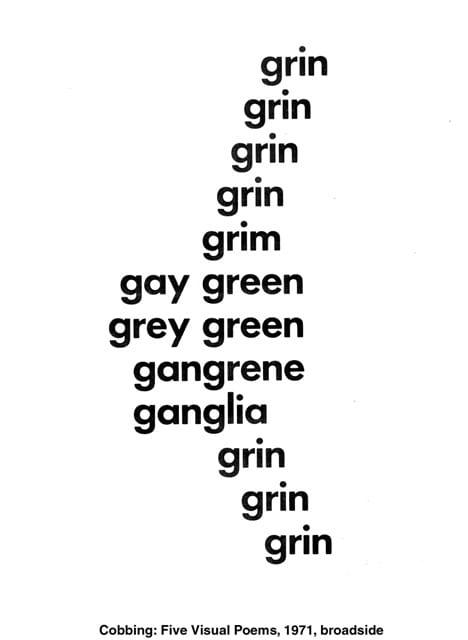 Concrete Poem Outlines