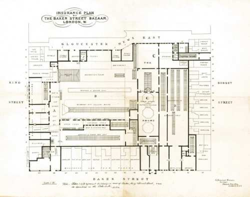 small resolution of plan of the bazaar site about 1900 portman estate please click to expand