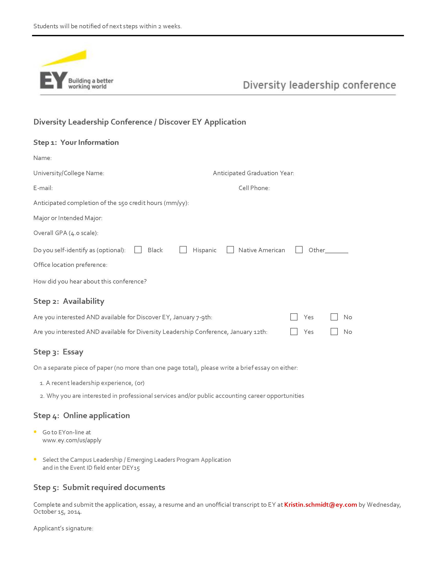 Ernst & Young's Diversity Leadership Conference