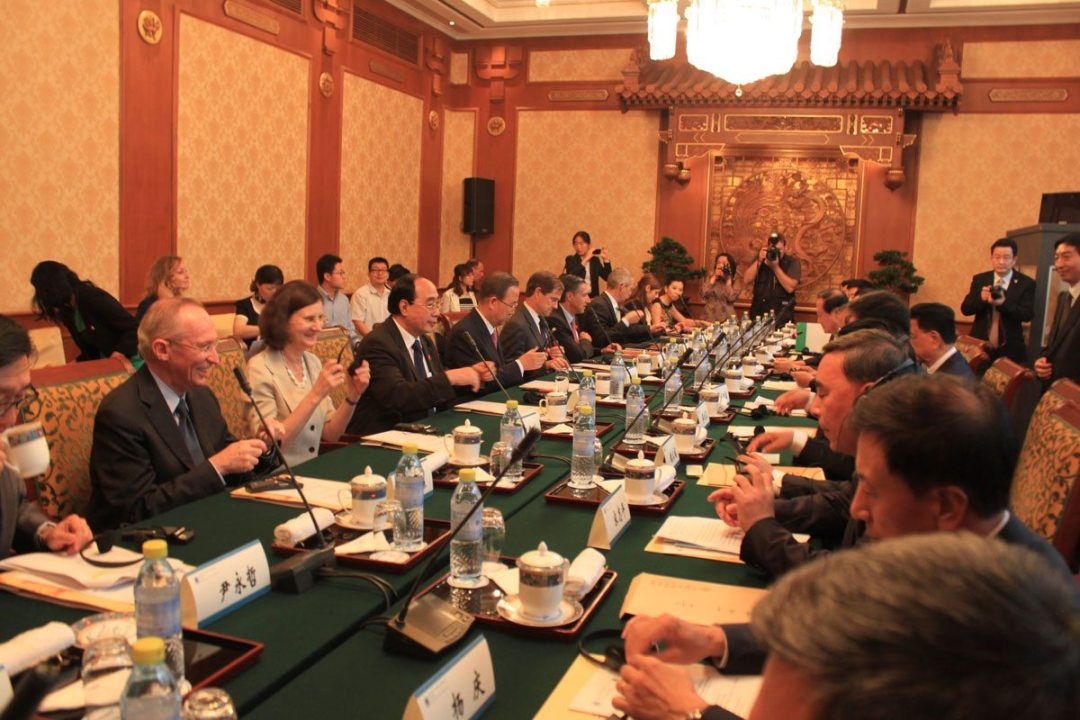 Here's a snapshot from the Secretary General's meeting with business leaders involved in the Global Compact Network in China.