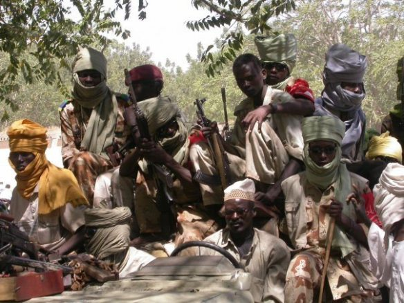 With the Sudan Liberation Army - Minni Minnawi faction - in Gereida village, South Darfur, 2006