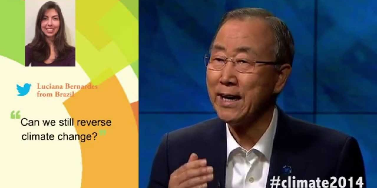 #Climate2014 – 3 Questions for Secretary-General Ban Ki-moon