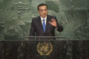 Continuation of the general debate [item 8] Address by His Excellency Li Keqiang, Premier of the State Council of the PeopleÕs Republic of China General Assembly Seventy-first session 10th plenary meeting General Debate