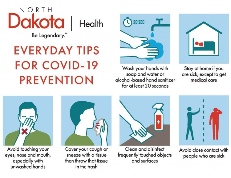 N.D. Department of Health shares tips for Covid-19 ...