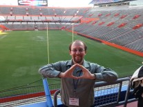 "Nick ""Throwing an O"" at The Swamp at the 2014 NAPC meeting"