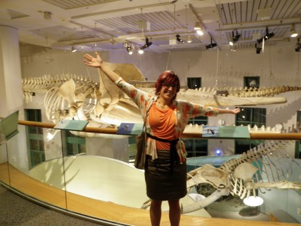 Win at the Society of Vertebrate Paleontology welcome reception in 2012